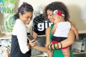 Yendi and her daughter Israel