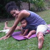 Yoga at five months